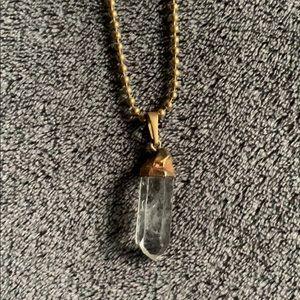 90s quartz necklace